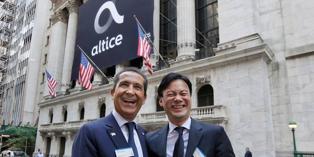 Le français Altice gagne plus de 5% à son entrée à Wall Street - La Libre