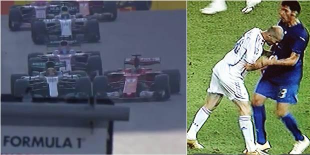 Clash en F1: après Zidane, le coup de boule de Vettel (VIDEOS) - La Libre