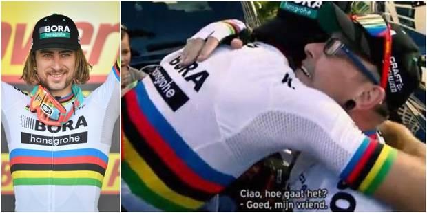 Qui est ce fan belge, tombé dans les bras de Sagan après sa victoire ? - La Libre