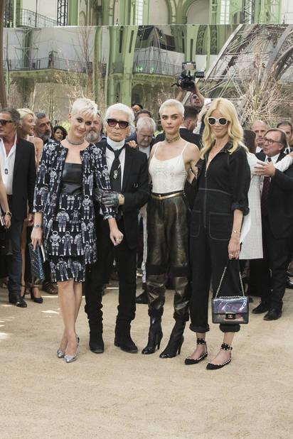 Katy Perry, Cara Delevingne et Claudia Schiffer