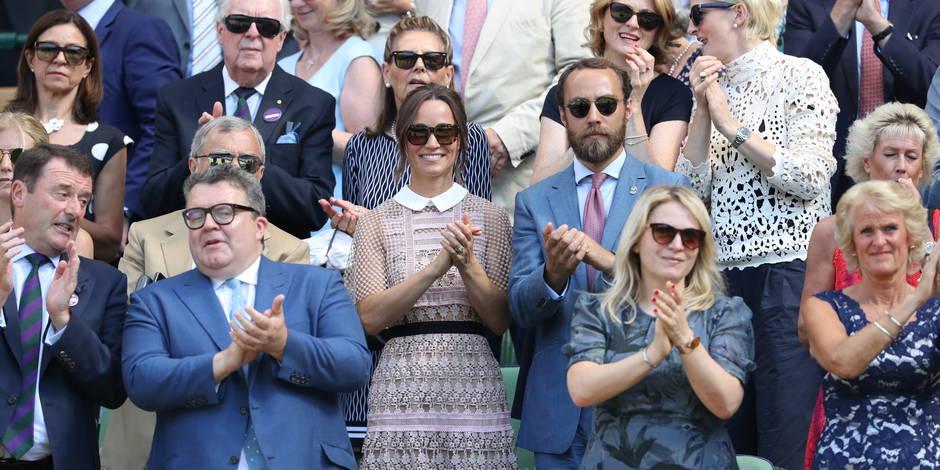 Pippa Middleton joue la carte de la transparence dans les gradins de Wimbledon