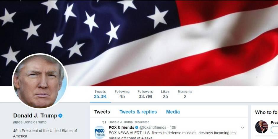 Donald Trump attaqué en justice... par ceux qu'il a bloqués sur Twitter