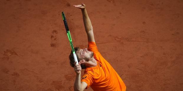 Près de sept semaines après sa blessure à Roland Garros, David Goffin rejoue et gagne - La Libre