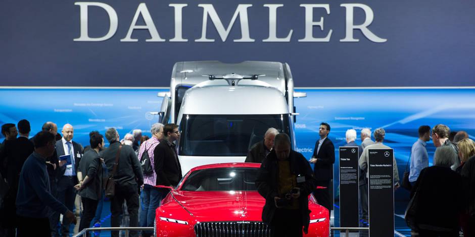 Daimler: le roi diesel tremble sur son trône en Allemagne - La Libre
