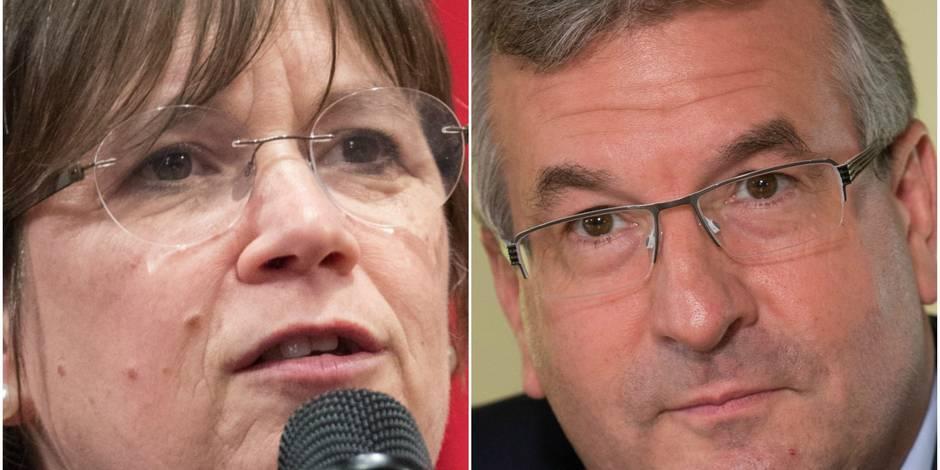 Alda Greoli et Pierre-Yves Jeholet, les nouvelles têtes du gouvernement wallon - La Libre