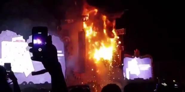 22.000 personnes évacuées après un incendie lors du Tomorrowland espagnol (VIDEO) - La Libre