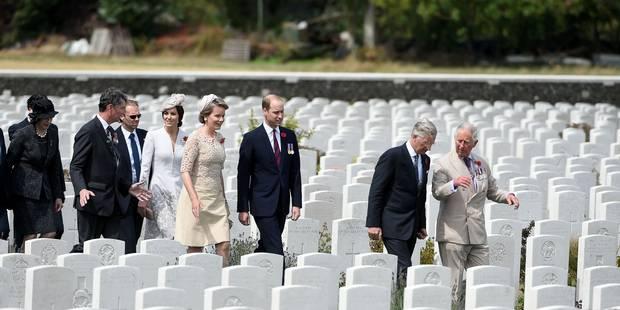 Les familles royales belge et britannique commémorent la bataille de Passchendaele - La Libre