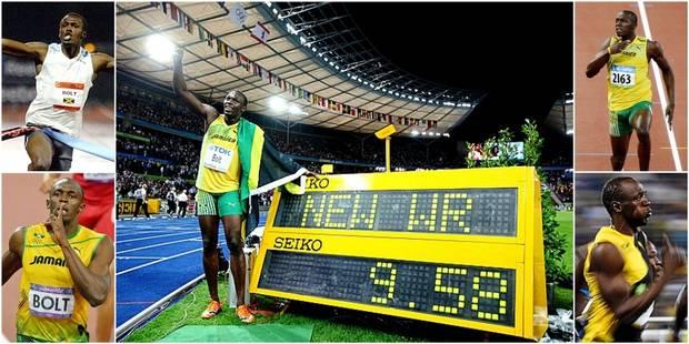 Les cinq 100 mètres historiques d'Usain Bolt - La Libre