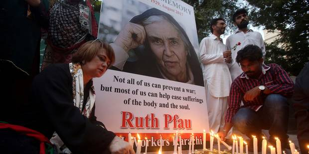 """Funérailles nationales pour la """"Mère Teresa"""" du Pakistan - La Libre"""