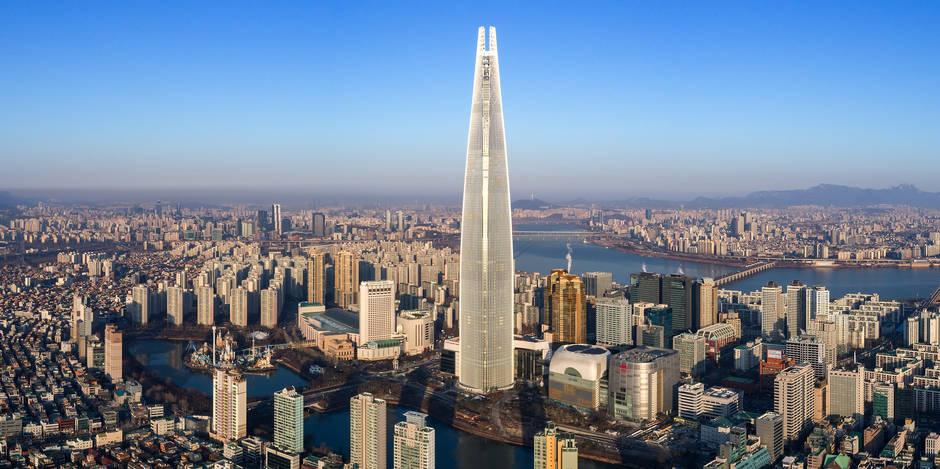 """La Lotte World Tower de Séoul est la tour """"la plus mixte du monde"""" (INFOGRAPHIE)"""