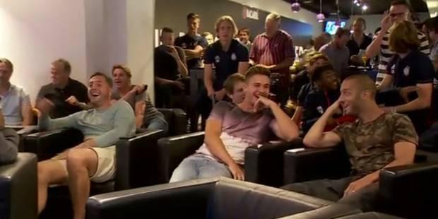 La réaction des joueurs d'Anderlecht lorsqu'ils apprennent qu'ils vont jouer contre le PSG et le Bayern (VIDEO) - La Lib...