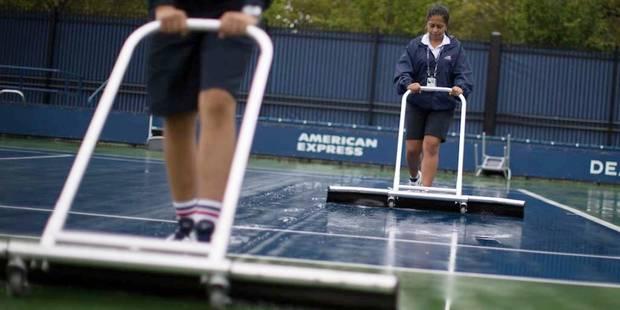 US Open: les matchs des courts extérieurs annulés à cause de la pluie, dont ceux de Goffin, Darcis et Flipkens - La Libr...
