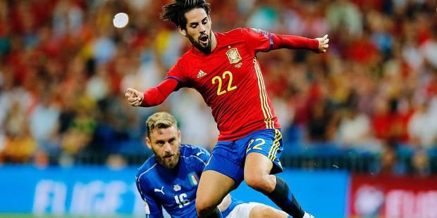 Eliminatoires Mondial : l'Espagne terrasse l'Italie, Isco en héros - La Libre