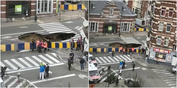 Immense trou dans la chaussée de Louvain, circulation des trains perturbée, 200 personnes ont été évacuées - La Libre