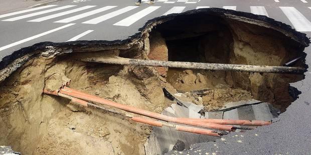 Effondrement de voiries à Bruxelles: 1,5 milliard d'euros pour rénover les égouts - La Libre