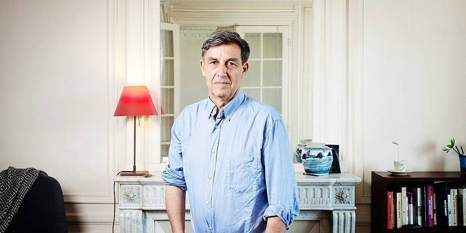 Portrait of Emmanuel Todd at his place 29/08/2017 ©Patrice NORMAND/Leextra via Leemage Reporters / Leemage