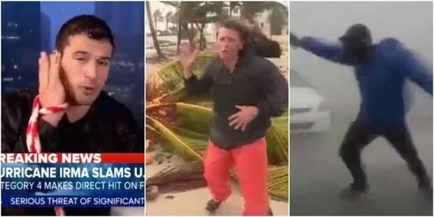 Ces journalistes qui prennent des risques pendant l'ouragan Irma (VIDEOS) - La Libre