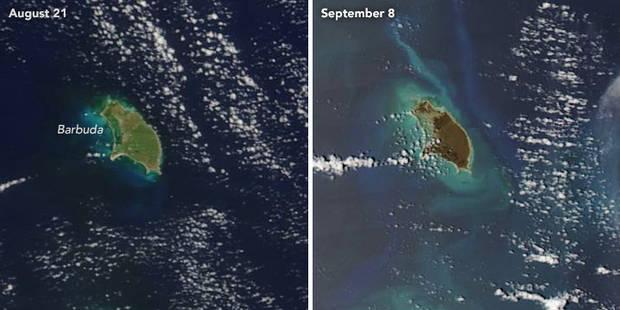 L'ouragan Irma vu de l'espace: le stupéfiant avant-après