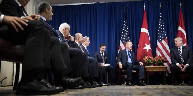 """Trump donne une """"bonne note"""" à son """"ami"""" Erdogan - La Libre"""