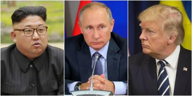 """Le Kremlin inquiet des échanges de """"menaces"""" entre Trump et Kim Jong-Un - La Libre"""