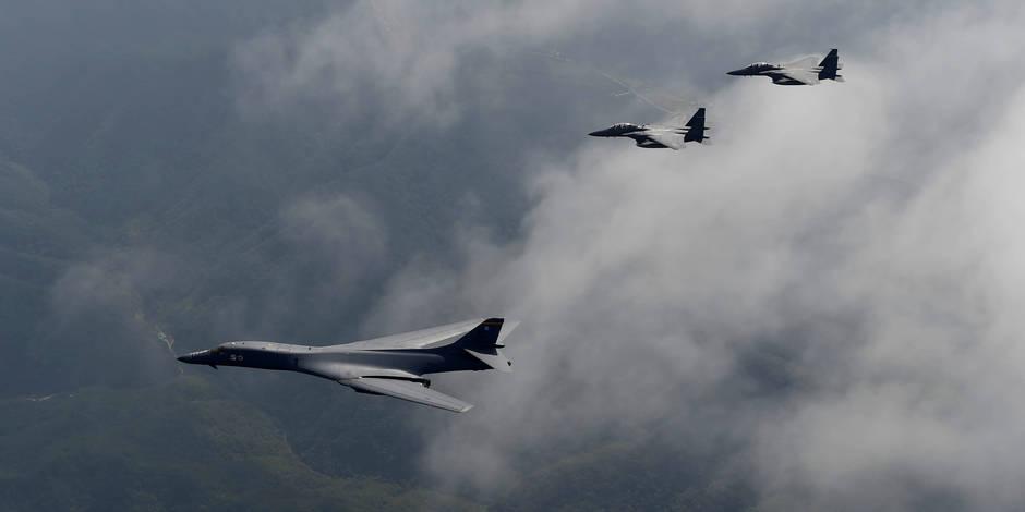 Des bombardiers américains ont volé près des côtes nord-coréennes