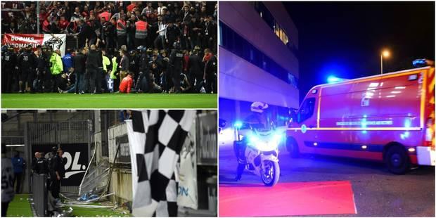 """""""D'un coup, ça m'est tombé dessus"""": un supporter de Lille raconte l'effondrement de la barrière (VIDEO) - La Libre"""
