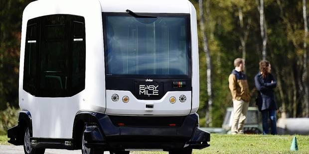 Voici le minibus autonome qui circulera en Belgique en 2018 - La Libre