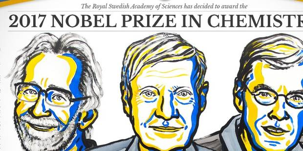 """""""Ils ont capturé la vie dans ses plus petits détails"""" : le Nobel de chimie à Dubochet, Frank et Henderson, qui congèlent..."""