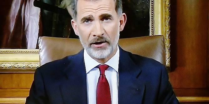 Le discours du roi d'Espagne Felipe VI divise la Catalogne - La Libre