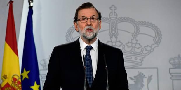 Le gouvernement espagnol souhaite des élections en Catalogne pour mettre fin à la crise - La Libre