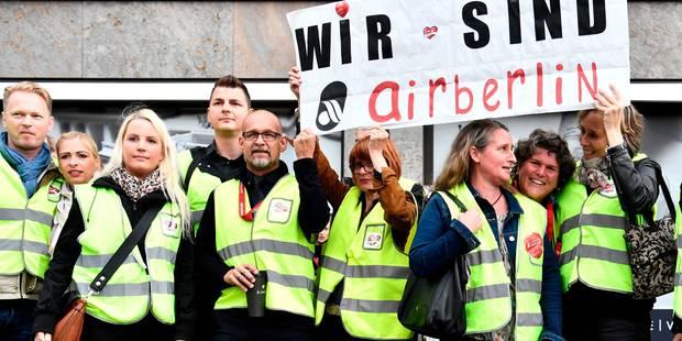 Air Berlin: environ 1.400 salariés menacés de licenciement - La Libre
