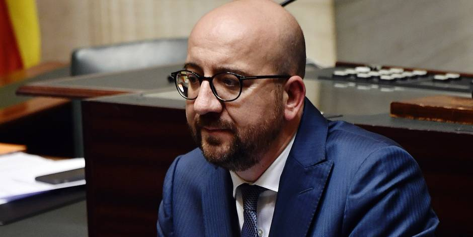Belgian Prime Minister Charles Michel pictured during a plenary session of the chamber at the federal parliament in Brussels, with the political declaration of Belgian Prime Minister, Tuesday 10 October 2017. BELGA PHOTO ERIC LALMAND