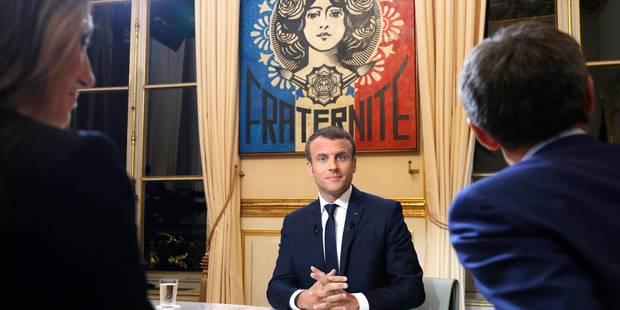 Ce qu'il faut retenir de la première interview télévisée d'Emmanuel Macron - La Libre