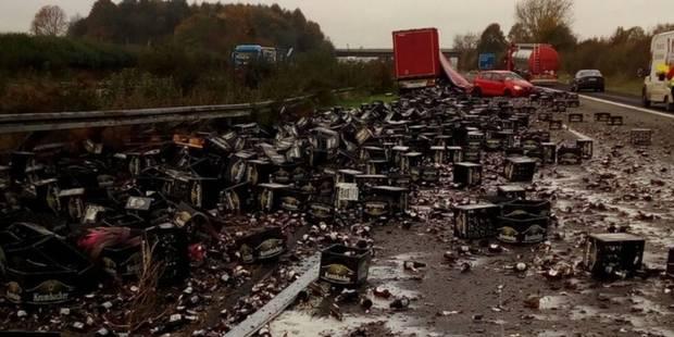 Une autoroute allemande bloquée par... 30.000 bouteilles de bière - La Libre