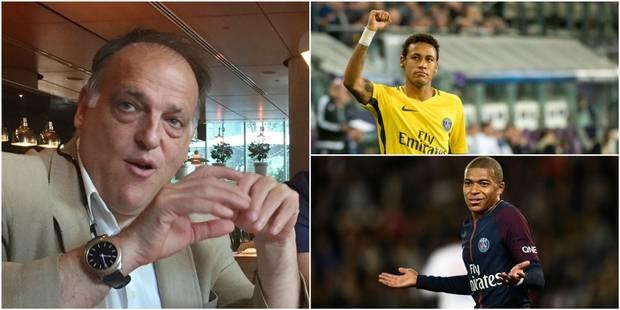 Le président de la Liga demande à ce que le PSG soit disqualifié de la Ligue des Champions - La Libre