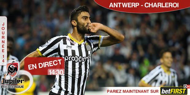 Trop fort pour l'Antwerp, Charleroi s'impose et conforte sa deuxième place (1-3) - La Libre