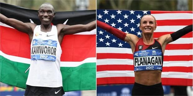 Le Kényan Kamworor et l'Américaine Flanagan sacrés au marathon de New York - La Libre