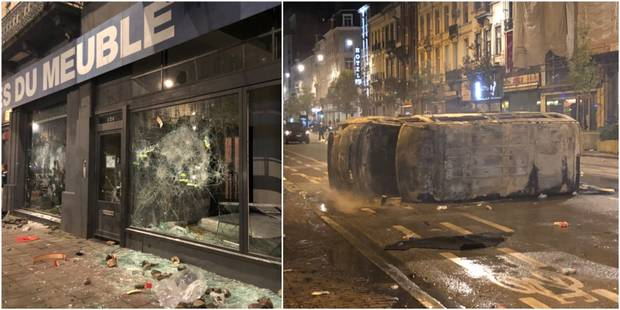 22 policiers blessés dans des bagarres à Bruxelles, la police prendra les critiques en compte dans son évaluation (Photo...
