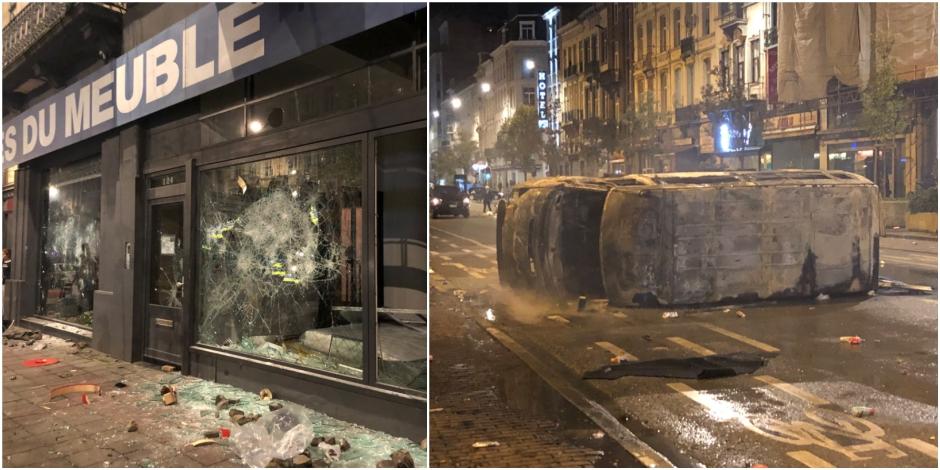 22 policiers blessés dans des bagarres à Bruxelles, la police prendra les critiques en compte dans son évaluation (Photos et vidéos)