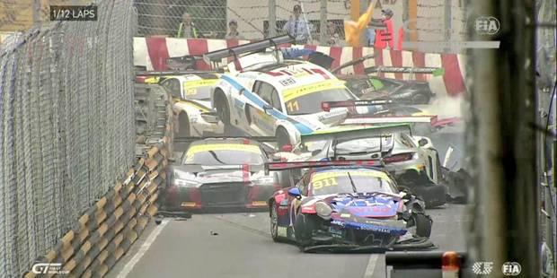 Carnage au GP de Macao: Plus de 10 GT3 impliquées dans un carambolage-monstre (VIDEO) - La Libre