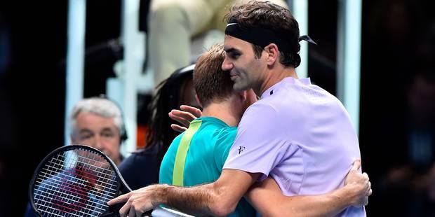 """Federer après sa défaite face à Goffin: """"Je suis content pour lui, c'est un chouette gars"""" - La Libre"""