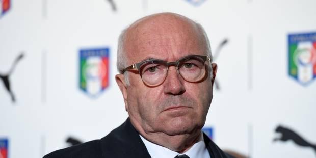 Sur la sellette, le président de la fédération italienne Carlo Tavecchio démissionne - La Libre