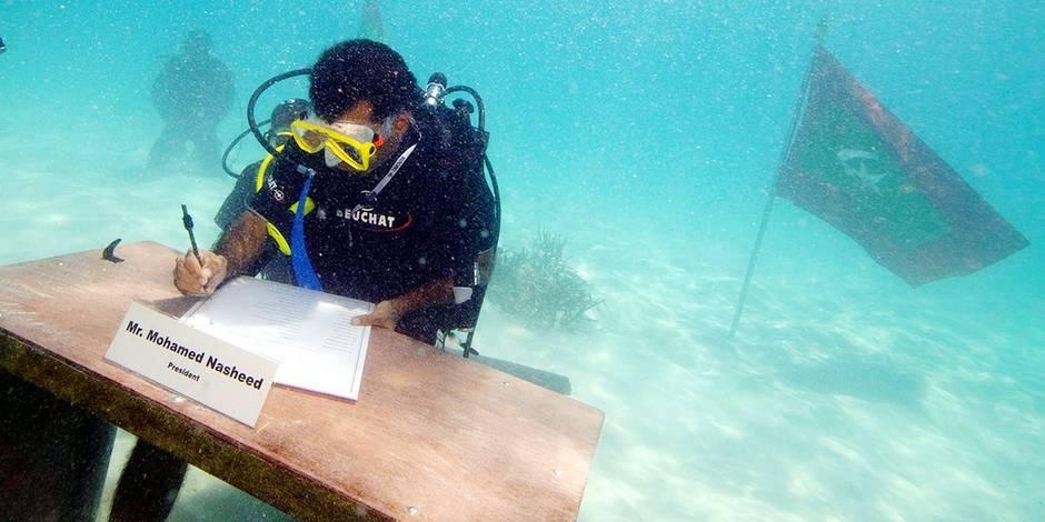 """Mohamed Nasheed : """"La lutte contre le changement climatique est vitale pour mon peuple"""" - La Libre"""