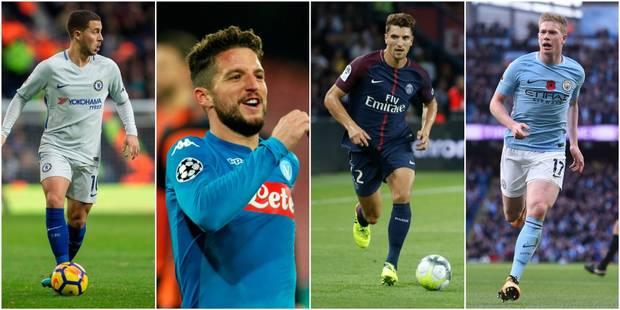 Quatre Diables nommés dans l'équipe UEFA de l'année - La Libre