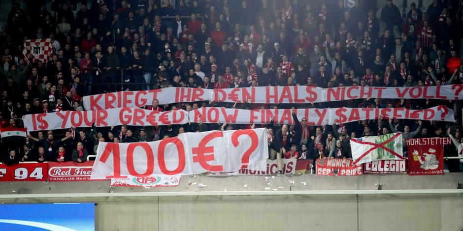 35 € pour voir Neymar, 100€ pour voir Teo: les supporters du Bayern l'ont mauvaise !