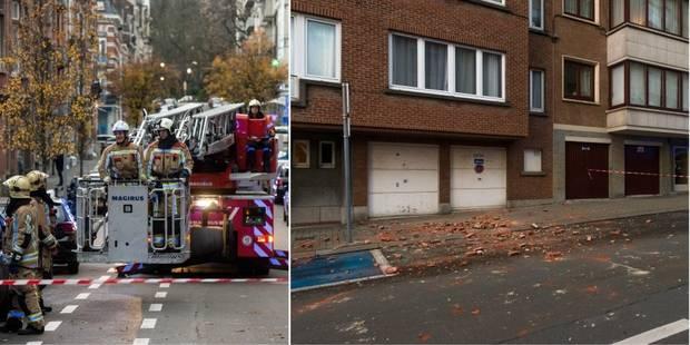 Etterbeek: une partie de façade d'habitation s'effondre (PHOTOS et VIDEO) - La Libre