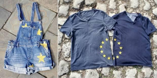Des Belges lancent une ligne de vêtements aux couleurs de l'Europe - La Libre