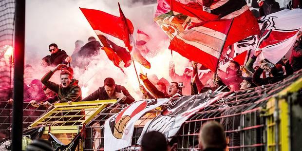 Des Mauves volent le drapeau et le mégaphone rouche: l'incident risque de faire monter la tension entre les deux kops - ...