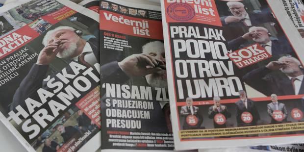 Le TPIY ouvre une enquête interne sur la mort de Slobodan Praljak en pleine audience - La Libre