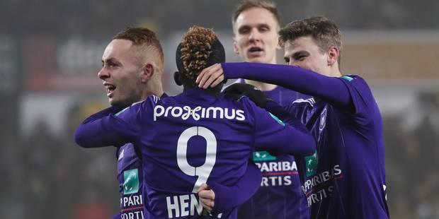Anderlecht s'impose difficilement à Lokeren (1-2) - La Libre